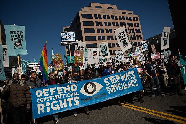 Activists Demonstrate Against NSA's Surveillance Tactics